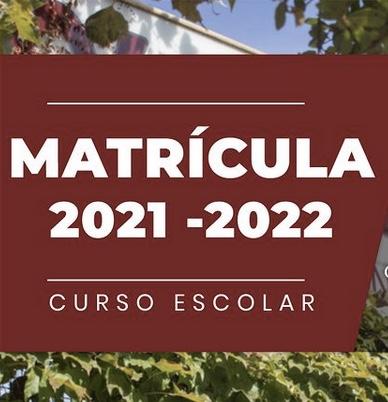 Calendario matriculación 2021/22